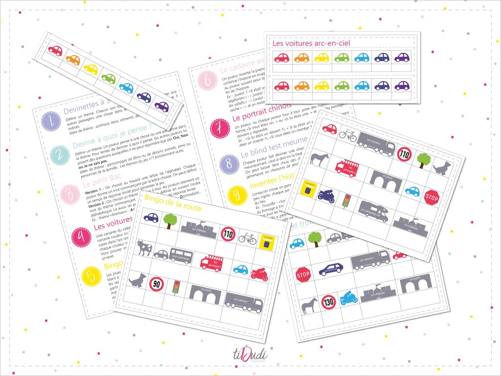 10 jeux pour occuper les enfants en voiture par tiDudi