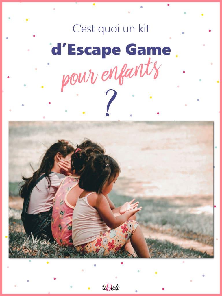 C'est quoi un kit d'escape game à la maison pour enfants ? tiDudi