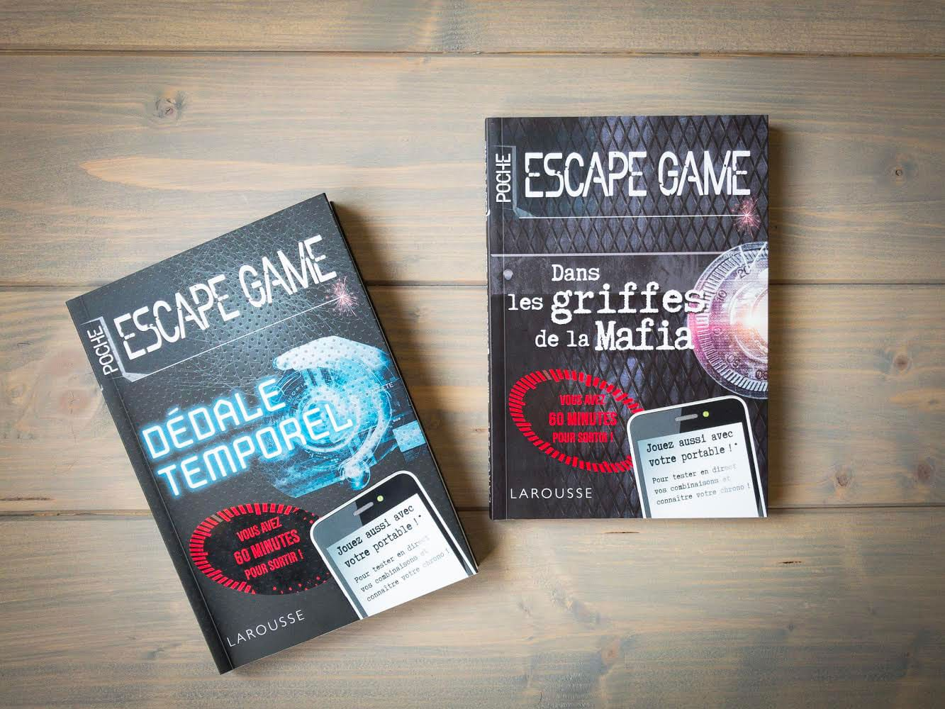 livre jeu escape game de poche Larousse