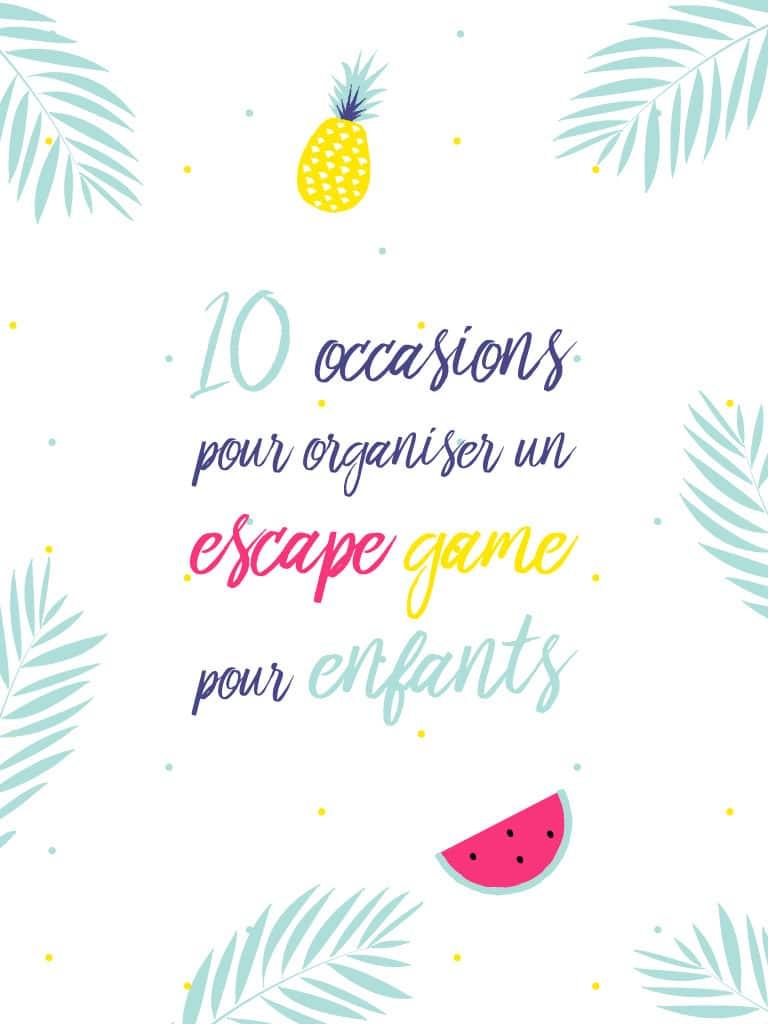 10 occasions pour organiser un escape game pour enfants. tiDudi