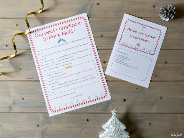 Calendrier de l'Avent Qui veut remplacer le Père Noël tiDudi