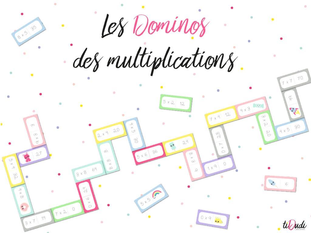 Dominos des tables de multiplication