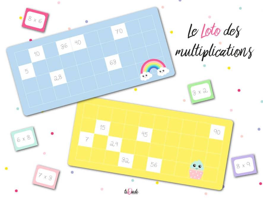 Le loto des multiplications : un jeu de tables de multiplication