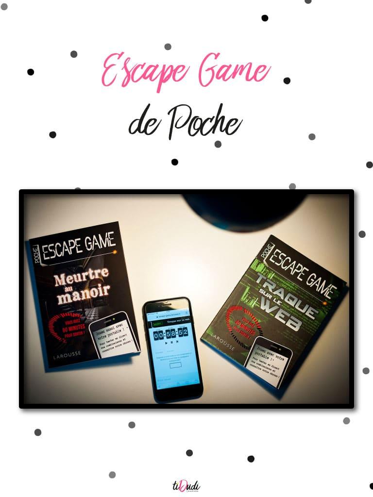 """Avis escape game de poche """"Meurtre au Manoir"""" et """"Traque sur le Web"""" de Nicolas Trenti chez Larousse"""