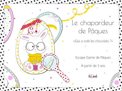 Escape game de Pâques enfant à partir de 3 ans tiDudi Le chapardeur de Pâques