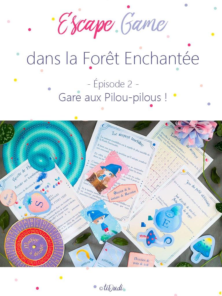 Escape game pour enfant pour un anniversaire. Forêt enchantée. Fée, sorcière, korrigan, magie, atelier de potion magique.