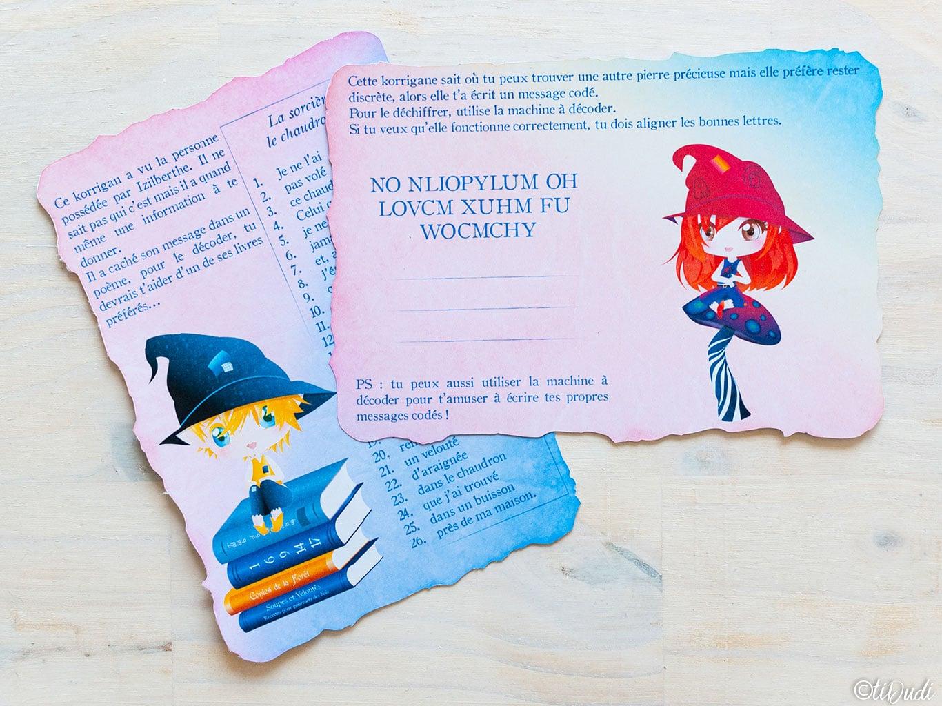 Kit d'escape game pour enfants imprimé sur papier recyclé. tiDudi