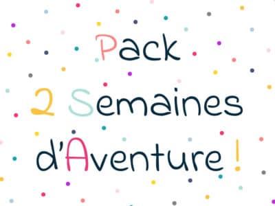Pack 2 semaines d'aventure. Escape game des vacances