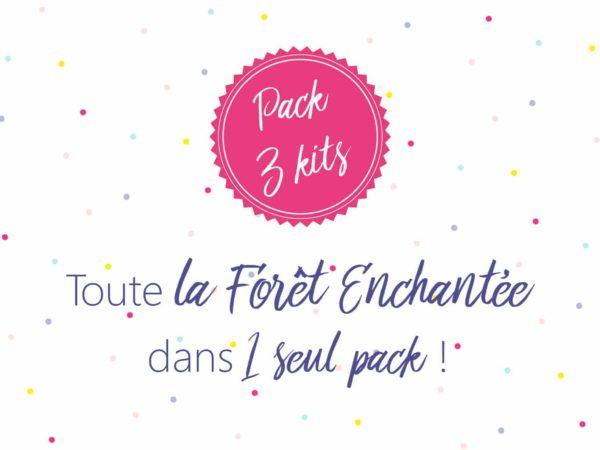 pack 3 kits escape game pour enfants dans la forêt enchantée