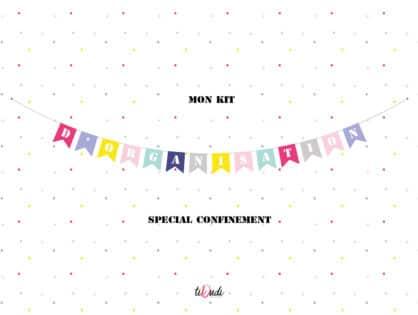 Kit d'organisation pour enfant - Spécial Confinement